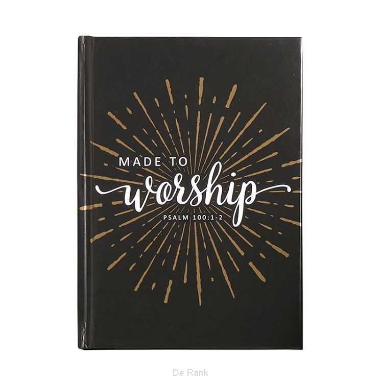 Hardcover pocket journal made to worship